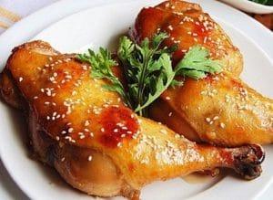 橄榄油烤鸡腿