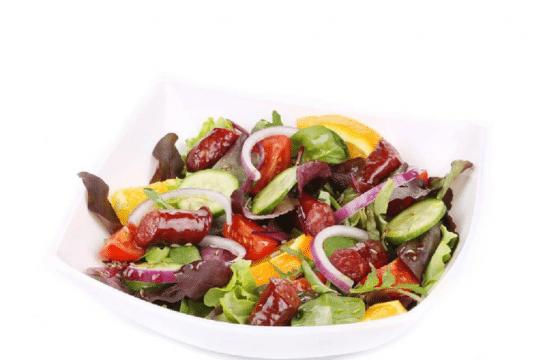 橄榄油美食系列—香肠沙拉