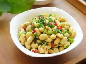 橄榄油双椒拌黄豆