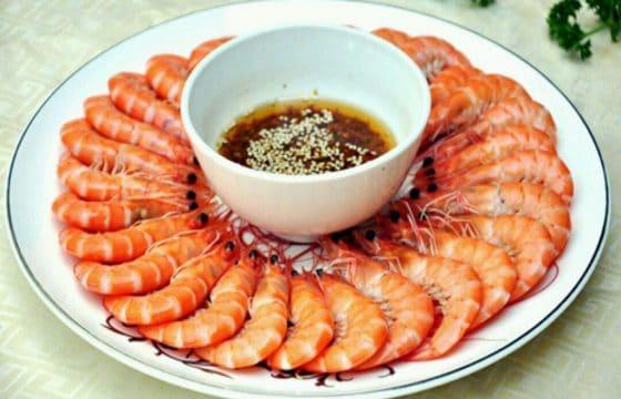 西班牙橄榄油白灼虾