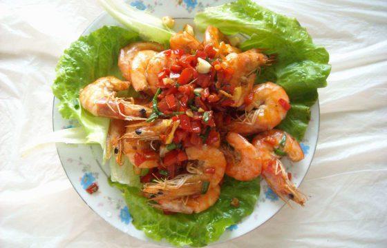 橄榄油盐酥虾