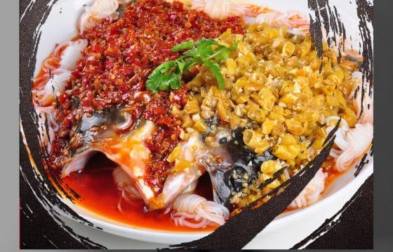 西班牙橄榄油烧剁椒鱼头