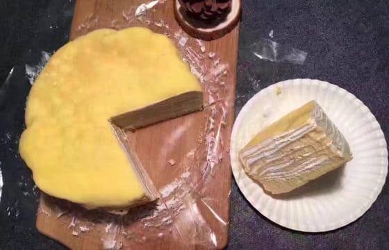 食用橄榄油制作千层蛋糕
