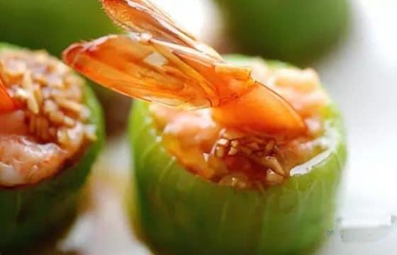 食用橄榄油丝瓜鲜虾盅