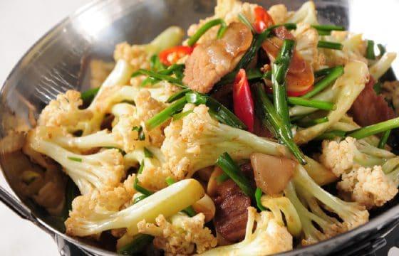 用橄榄油自制干锅菜