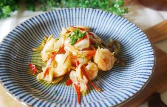 西班牙橄榄油香蒜虾