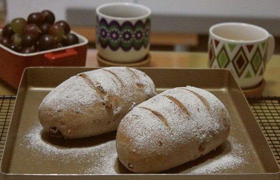 全麦橄榄油核桃面包