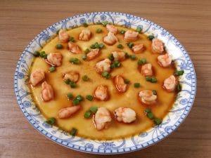 橄榄油虾仁蒸蛋