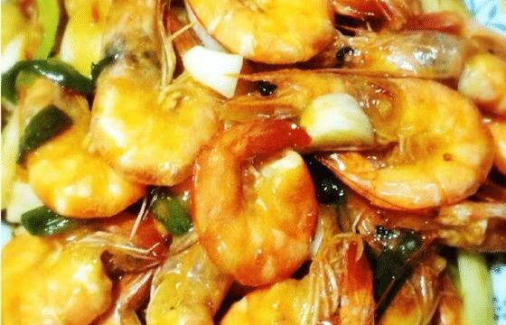 橄榄油甜辣虾