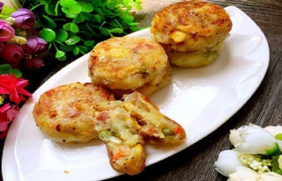 杂疏土豆泥饼