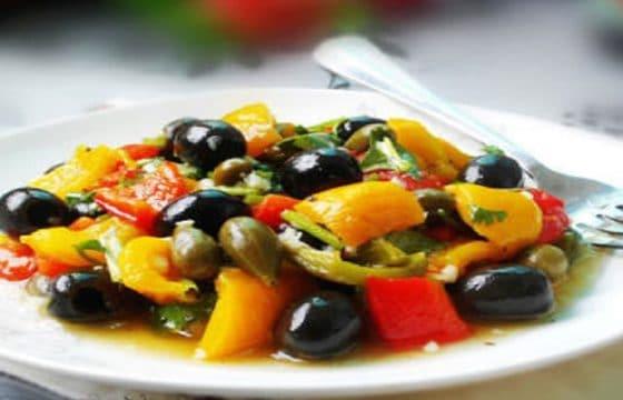 烤彩椒橄榄沙拉