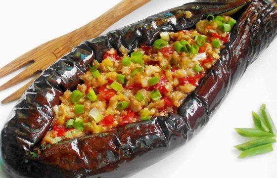 西班牙橄榄油烧蒜香茄子