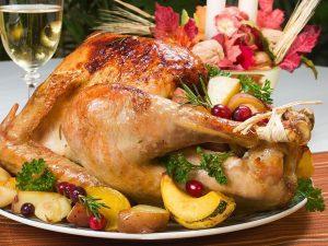 食用橄榄油烤火鸡
