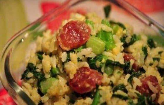 食用橄榄油菜谱之青菜焖饭