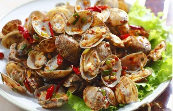 精纯橄榄油健康私房菜——辣椒炒蛤蜊