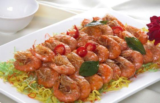 橄榄油香草虾
