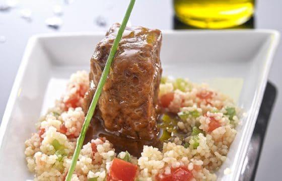地中海饮食菜谱:牛脸肉配古斯米