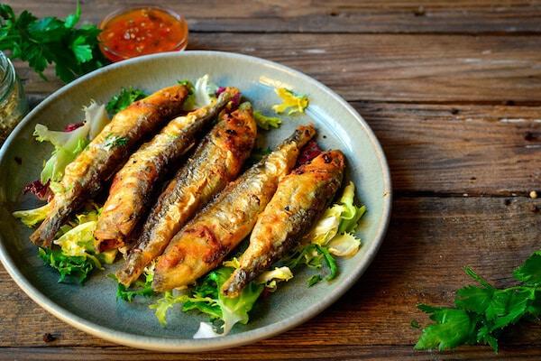 橄榄油油炸小鱼食谱