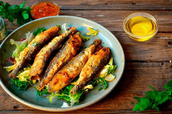 橄榄油炸小鱼